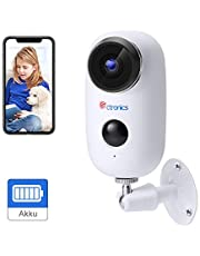 [1080P] Ctronics Outdoor Security Camera Home Wireless WiFi Camera Rechargeable Powered Battery Indoor PIR Motion Detection Two Way Audio IR Night Vision IP 65 Weatherproof Support SD card