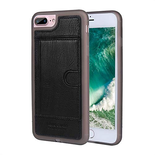 Capa para iPhone 7 Plus iPhone 8 Plus Original, Pierre Cardin, PC05-01, Preto