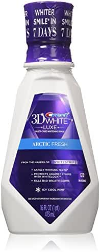 Crest 3D Arctic Fresh Multi-Care Whitening Rinse, White 16 fl oz (Pack of 2)