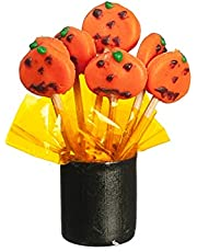 Melody Jane Poppen Huis Oranje Pompoen Lolly's in Houder Halloween Snoep 1:12 Accessoire