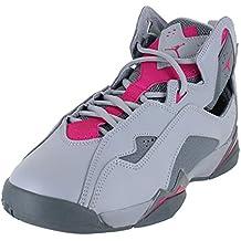 NIKE Jordan True Flight Wolf Grey/Deadly Pink (Big Kid) (9.5 B(M) US)