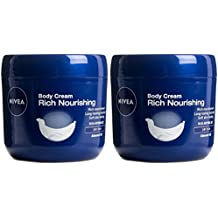Nivea Rich Nourishing Body Cream, 13.5 Oz / 400 Ml (Pack of 2)