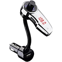 Mpow Bluetooth FM Transmitter, In-Car Universal Bluetooth Wireless FM Transmitter,Streambot Bluetooth Car Kit with USB Charger & FM Radio for Hands-free Calling