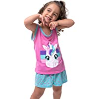 Pijama Infantil Bravaa Modas Filha Unicórnio Menina Bebe 016 Rosa