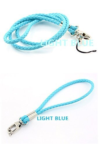 Handmade Braided Lanyards PU Leather Necklace Premium Quality Neck Lanyards keychain (1 Long and 1 short) For Camera  Cell Phone ID Badge Holder –2…