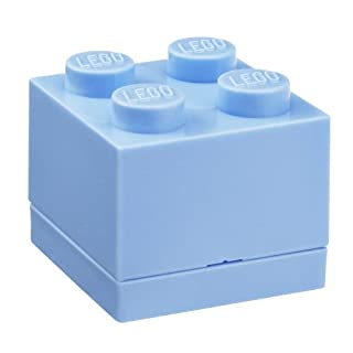 Room Copenhagen, LEGO Mini Box - BPA, Phthalate, and PVC Free Snack Storage - Brick 4, Bright Pink
