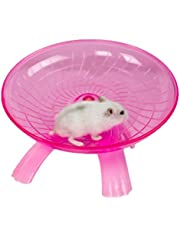 SZMYLED Plastic Exercise Wheel for Small Animals - Silent Spinner Non Slip Run Disc for Hamsters Hedgehogs Small Pets Exercise Wheel Pink 181811cm