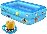 ZFRANC Conjunto inflável de bomba de piscina 2 camadas de banheira de banho infantil uso doméstico piscina par