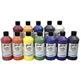 Sax True Flow Acrylic Paint - Pint - Set of 12 - Assorted Colors