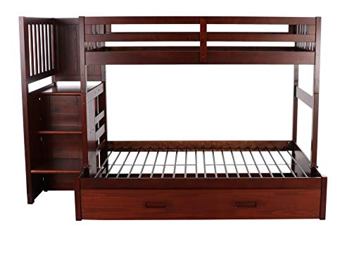 home, kitchen, furniture, bedroom furniture, beds, frames, bases,  beds 6 discount Discovery World Furniture Mission Twin Over Full Staircase deals
