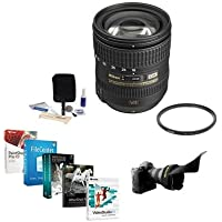 Nikon 16-85mm f/3.5-5.6G AF-S DX Nikkor ED VR Lens- U.S.A. Warranty - Accessory Bundle w/ Wide AngleFilter, Flex Lens Shade, Lens Clean Kit, Professional Software Package