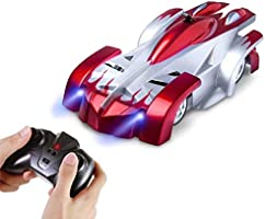 AMERTEER Remote Control Car,Electric Toy RC Cars on the Wall, Dual Mode 360°Rotating Stunt Rechargeable High Speed Race...