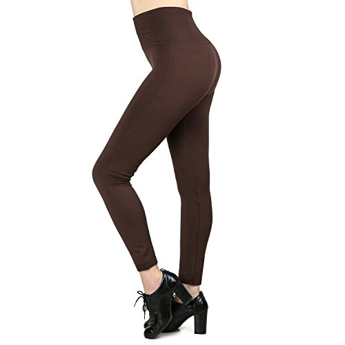 Moon Wood 7 Pack Women's Fleece Lined Leggings High Waist Soft Stretchy Winter Warm Leggings