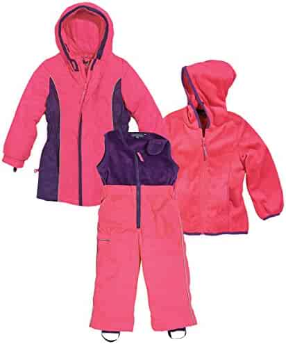 dea16d36 Cozy Cub Pink and Purple 3 Piece Parka, Fleece Insert, and Snow Pants,