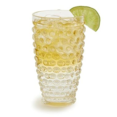 Sur La Table Hobnail Acrylic Highball Glass FFC301RS , Clear