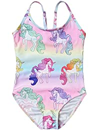 One Piece Bathing Suit for Toddler Girls 3t 4t Unicorn Swimsuits for Kids