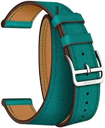Tonsee Watch Band,Double PU Leather Sport Wristband Bracelet Replacement Strap for Apple Watch Series 1234 42/44mm Wristband Women Girls Bracelet