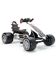 سيارة للركوب 4 عجلات ببدال للاطفال - اسود وابيض