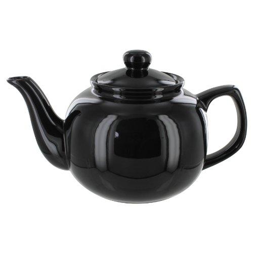 EnglishTeaStore Brand 6 Cup Teapot (Black)