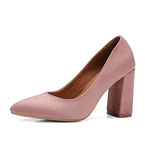 Yukun Schuhe mit hohen Absätzen rot High Heel Flachen Mund Damenschuhe Rot Damen High Heels Dick Mit Wilden 324445