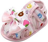 First Walker Shoes, Kimloog Newborn Baby Girls Bowknot Cartoon Fruits Print Close-Toe Sandals