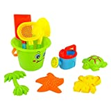 Kids Children Sand Beach Bucket Toys Set of 9