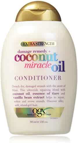 OGX Extra Strength Damage Remedy + Coconut Miracle Oil Conditioner, 13 Ounce