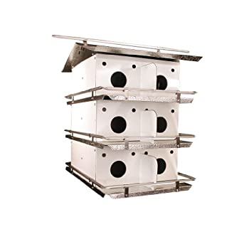 Birds Choice Original 3-Floor-12 Room Purple Martin House with Round Holes