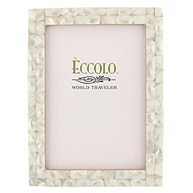 Eccolo Naturals Frame, 5 by 7-Inch, Mother of Pearl White