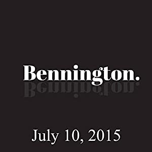 Bennington, July 10, 2015 Radio/TV Program