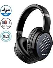 Mpow H16 Pro Noise Cancelling Headphones, [Quick Charge] Bluetooth Headphones Over Ear with Deep Bass, 30Hrs Playtime Wireless Headsets with CVC 6.0 Mic for TV/PC/Cellphone/Travel/Work