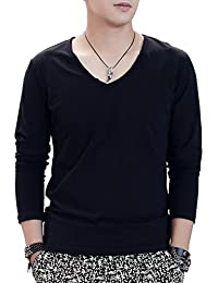 Men T-Shirts Long Sleeve Short Sleeve V Neck Casual Cotton Slim Men T Shirts