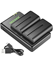 Neewer NP-F550 Battery Charger Set for Sony NP F970,F750,F960,F530,F570,CCD-SC55,TR516,TR716,and More (2-Pack Battery, Dual Slot Charger)