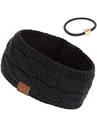 Winter Fuzzy Fleece Lined Thick Knitted Headband Headwrap Earwarmer(HW-20)(HW-33)