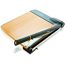 """Westcott 12"""" TrimAir Titanium Wood Guillotine Paper Trimmer with Anti-Microbial Protection"""