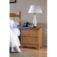 Carolina Furniture Works 152200 Night Stand with 2 Drawer, Salem Maple