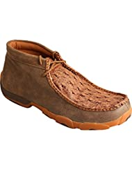 Twisted X Mens Bomber Full Quill Ostrich Driving Mocs - Mdm0037