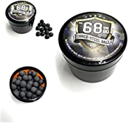 SSR 100 x Rubber Steel Balls Projectiles Heavy Ammo for Training Shooting Home and Self Defense Pistols in 68