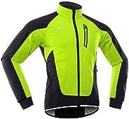 Lixada Men Cycling Jacket Waterproof Windproof Thermal Fleece Bike Jersey Riding Running Coat
