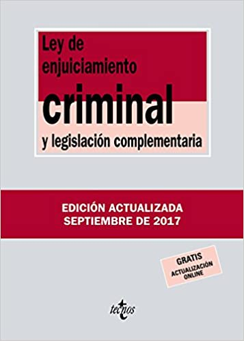 Ley de Enjuiciamiento Criminal y legislación complementaria Derecho - Biblioteca De Textos Legales: Amazon.es: Editorial Tecnos: Libros