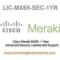 Meraki MX65 Advanced Security Meraki License 1 Year LIC-MX65-SEC-1YR