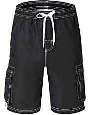 Akula Boys' Quick Dry Beach Board Shorts Swim Trunk with Pockets