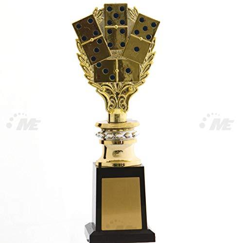 AX Esportes Troféu Dominó 2º Colocado 436/4 30Cm, Dourado