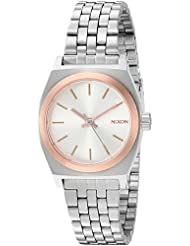 Nixon Womens Small Time Teller Quartz Stainless Steel Casual Watch, Color:Silver-Toned (Model: A3992632-00)
