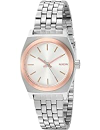 Womens Small Time Teller Quartz Stainless Steel Casual Watch, Color:Silver-