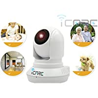 ICARE MORE Wifi IP Camera Wireless HD 960P Security camera Video Monitoring Pan Tilt With Audio and Night Vision, Micro SD Card slot, support iPhone and Android
