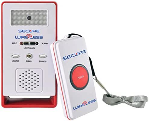 Secure SWCB-1 Wireless Remote Nurse Alert System - Patient Call Button and Caregiver Pager - 500+ Ft Range