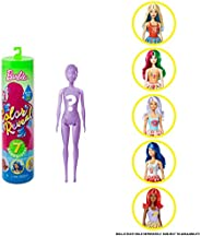 Barbie Color Reveal Doll with 7 Surprises: Water Reveals Doll's Look & Creates Color Change on Face &