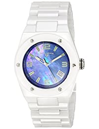 Swiss Legend Women's 10054-WBLSA Throttle Analog Display Swiss Quartz White Watch