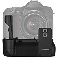 Powerextra BG-E2N Battery Grip Replacement for Canon EOS 20D/30D/40D/50D Digital SLR Camera Work With 2 Pcs BP-511 Batteries or 6 AA-size Batteries